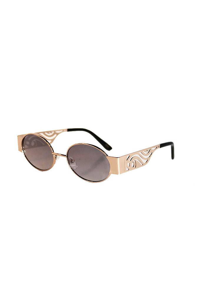California Waves Sunglasses-Gold