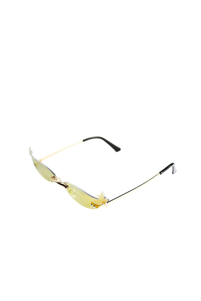 Starry Eye Mini Shade Sunglasses-Gold