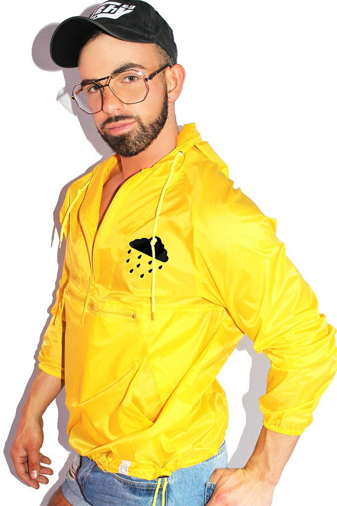 Golden Showers Windbreaker Jacket-Yellow