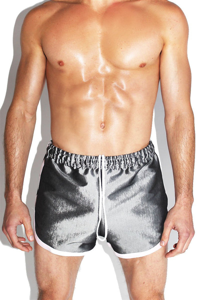 Graphite Running Shorts-Grey