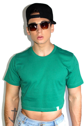 Core Crop Tee-Green
