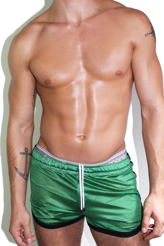 Mesh Running Shorts- Green
