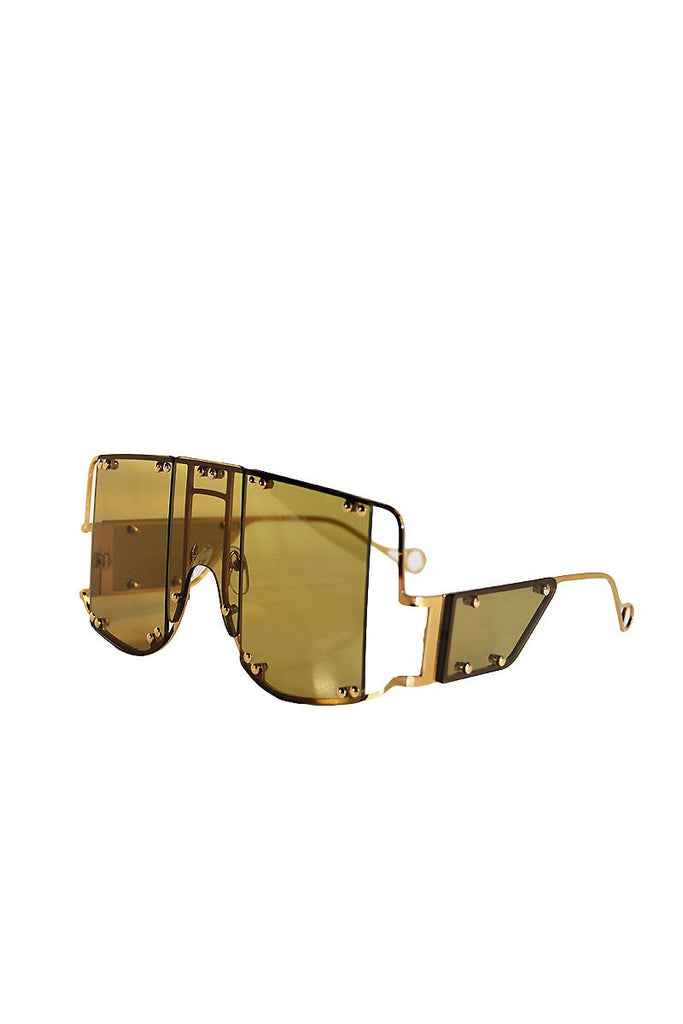 Armor Shield Flat Top Sunglasses- Olive