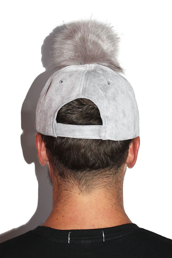 Lip Pom Pom Dad Hat-Grey
