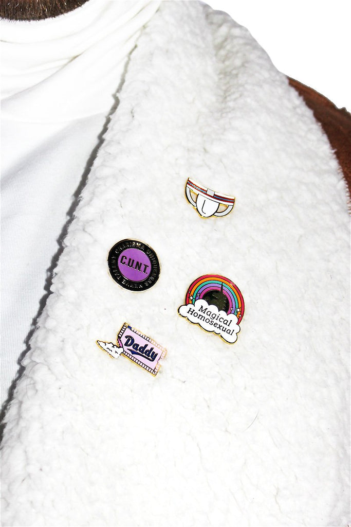 GAYPIN C.U.N.T. Pin-Purple