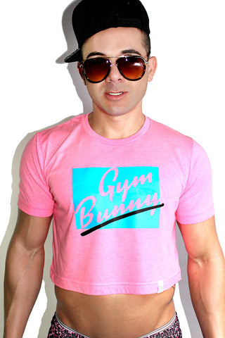Gym Bunny Crop Tee-Pink