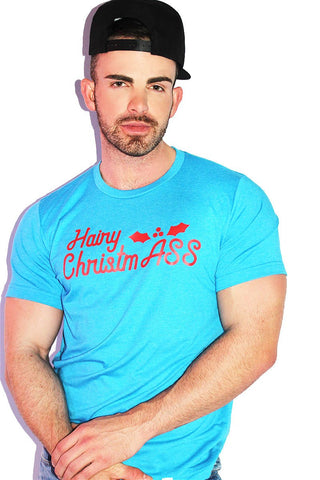Hairy ChristmASS Tee- Blue