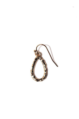 Chevron Plated Single Earring-Silver