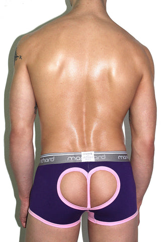 Heart Cutout Open Back Trunk- Purple