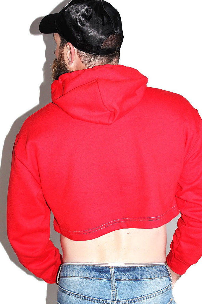 Homo For the Holigays Crop Hoodie-Red