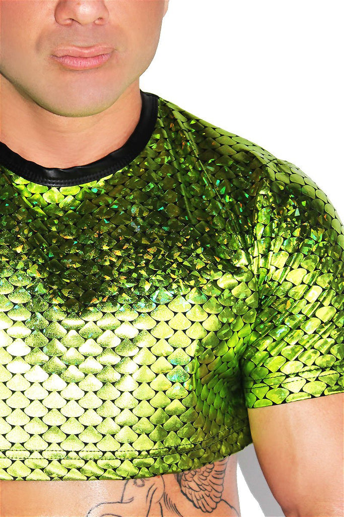 Swamp Monster Extreme Crop Tee-Green