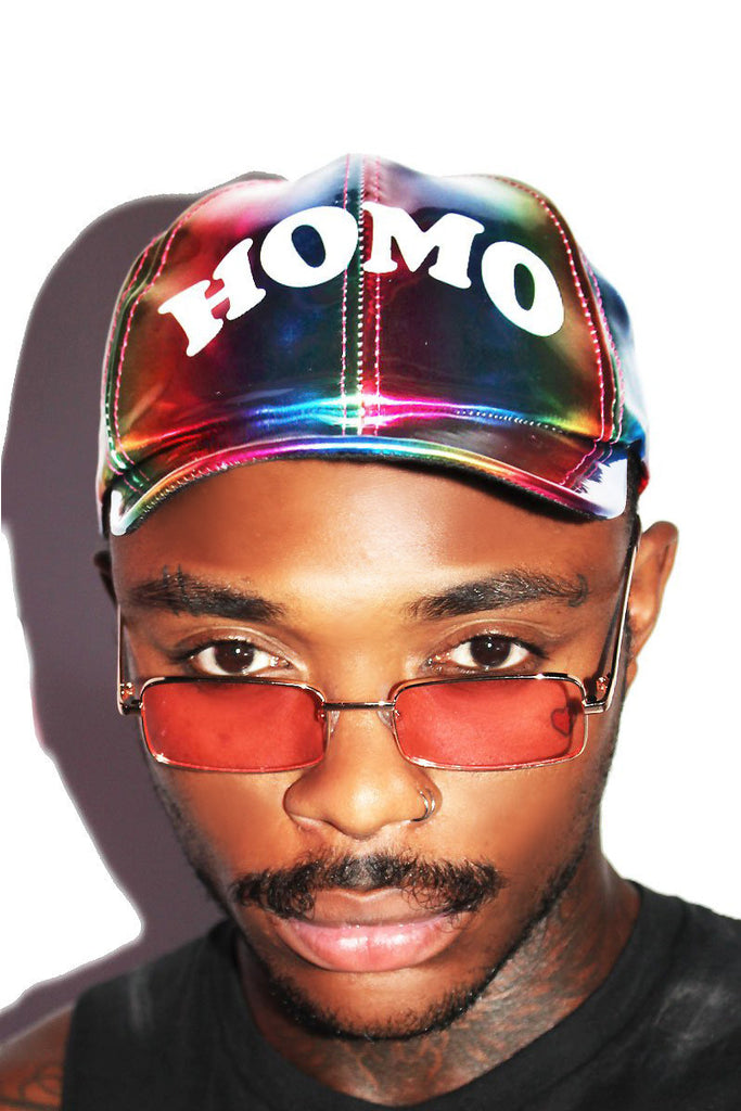 Homo Rainbow Dad Hat-Multi