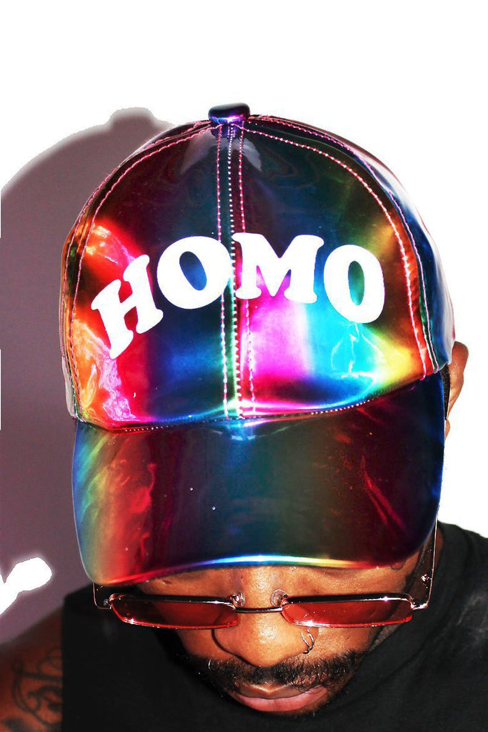 Homo Rainbow Dad Hat—Multi