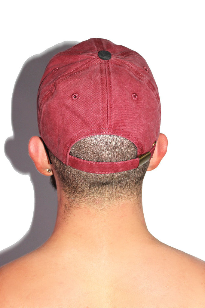 Hung With Care Vintage Dad Hat- Burgandy