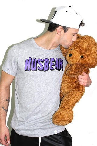 Husbear Tee- Grey