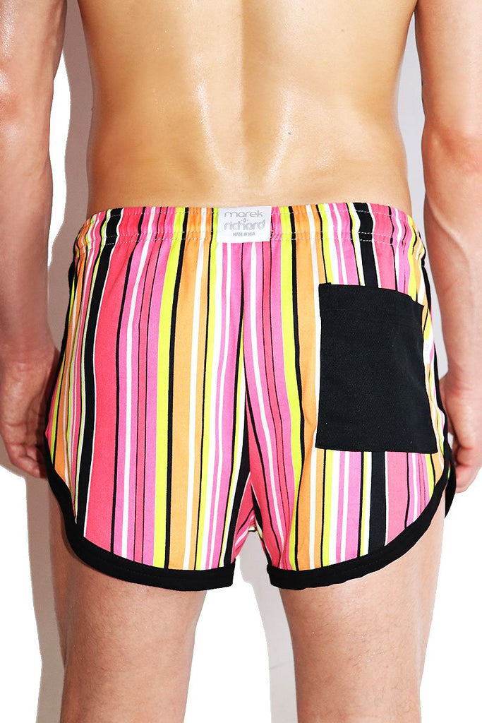 Sugar Rush Running Shorts-Pink