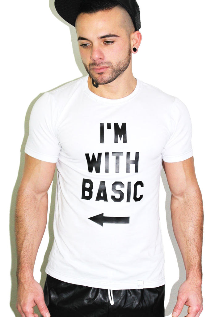 I'm with Basic Tee- White