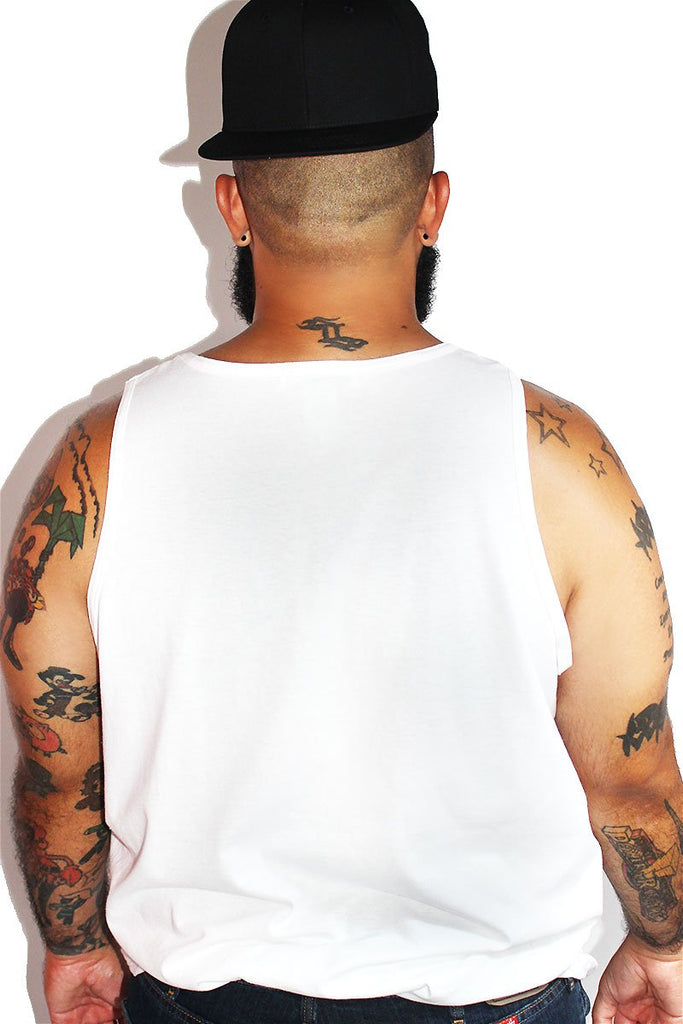 PLUS: In Ru We Trust Racerback Tank-White
