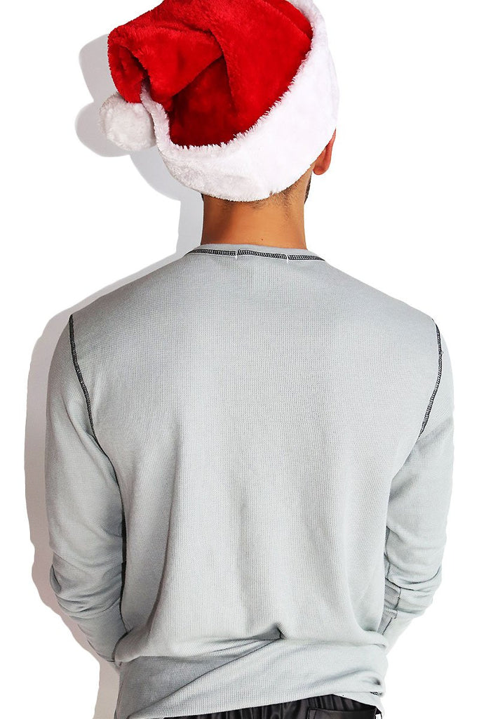 Jingle Balls Long Sleeve Thermal- Grey