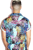 Daddy Vacation Palms Print Shirt - Black