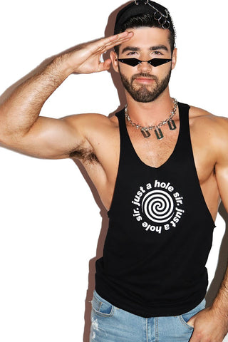 Just a Hole Sir String Tank- Black