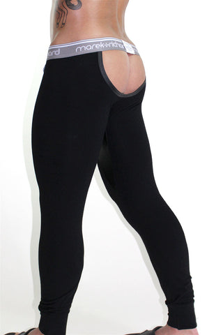Raging Stallion Cutout Long Johns-Black