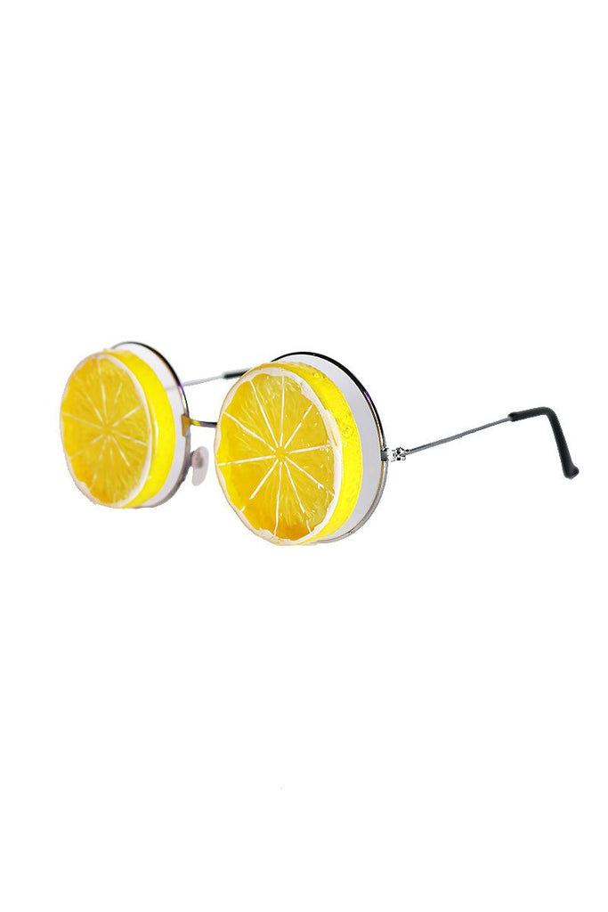 Lemon Slice Sunglasses- Yellow