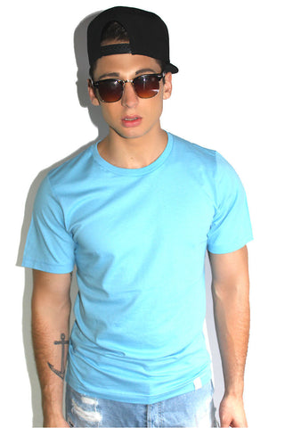 Core Crewneck Tee-Sky Blue