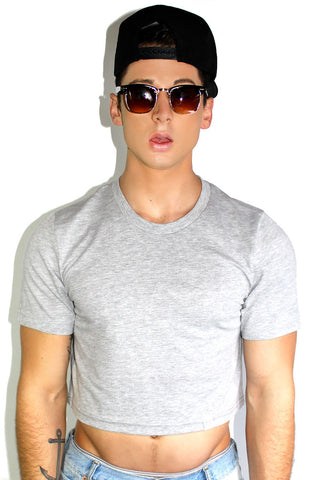 Core Crop Tee-Grey