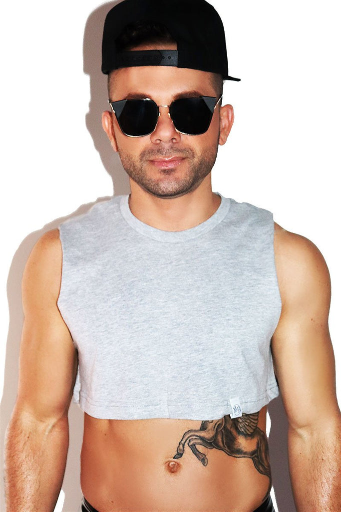 Core Extreme Crop Tank-Grey