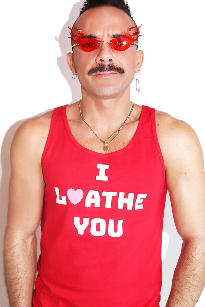 I Loathe You Racerback Tank-Red