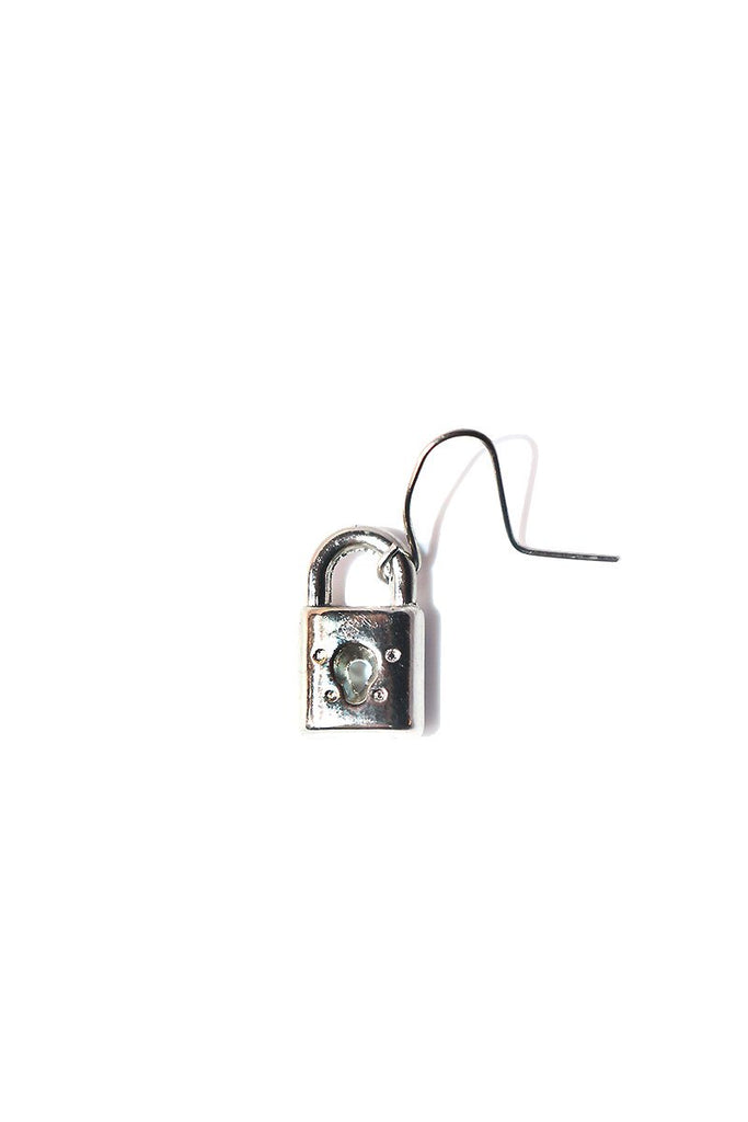 Lock Single Earring-Silver