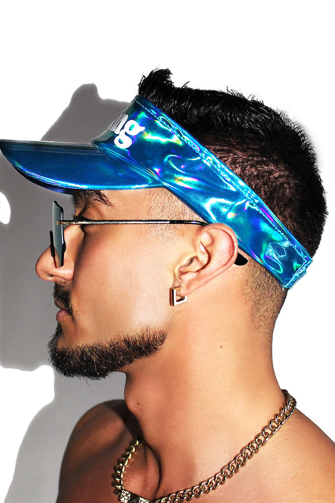 Looking Visor Hat-Blue