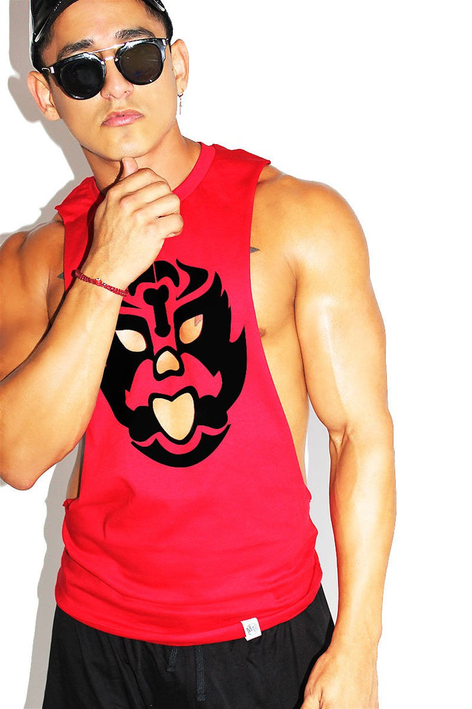 Mask Cut Out  Low Arm Shredder Tank- Black