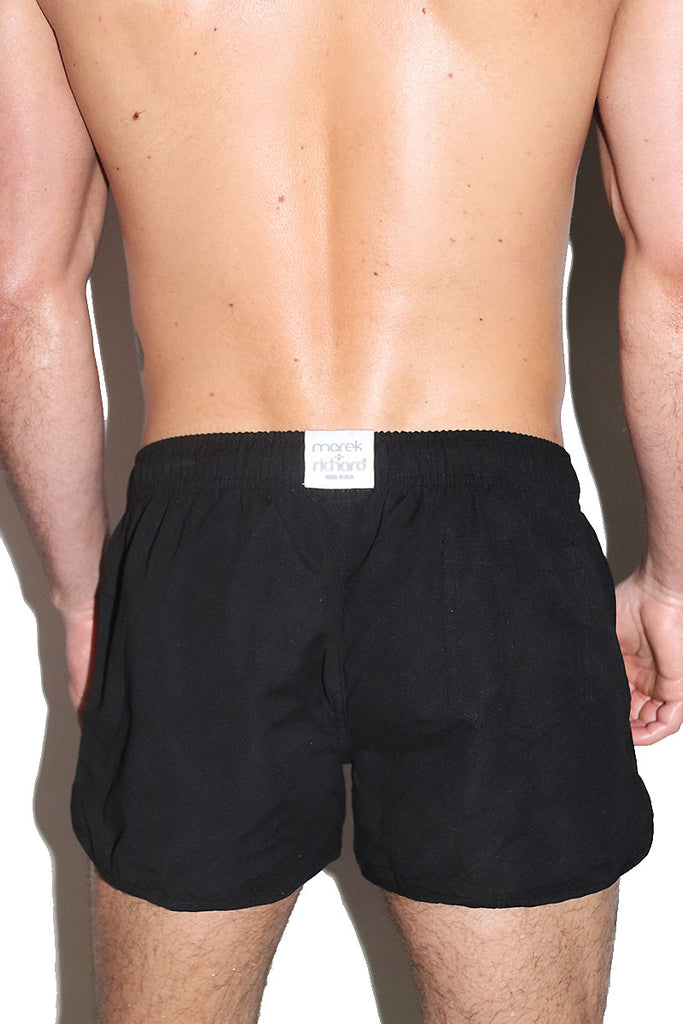 Logo Stud Running Shorts-Black