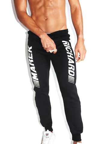 Logo Racing Sweatpants-Black