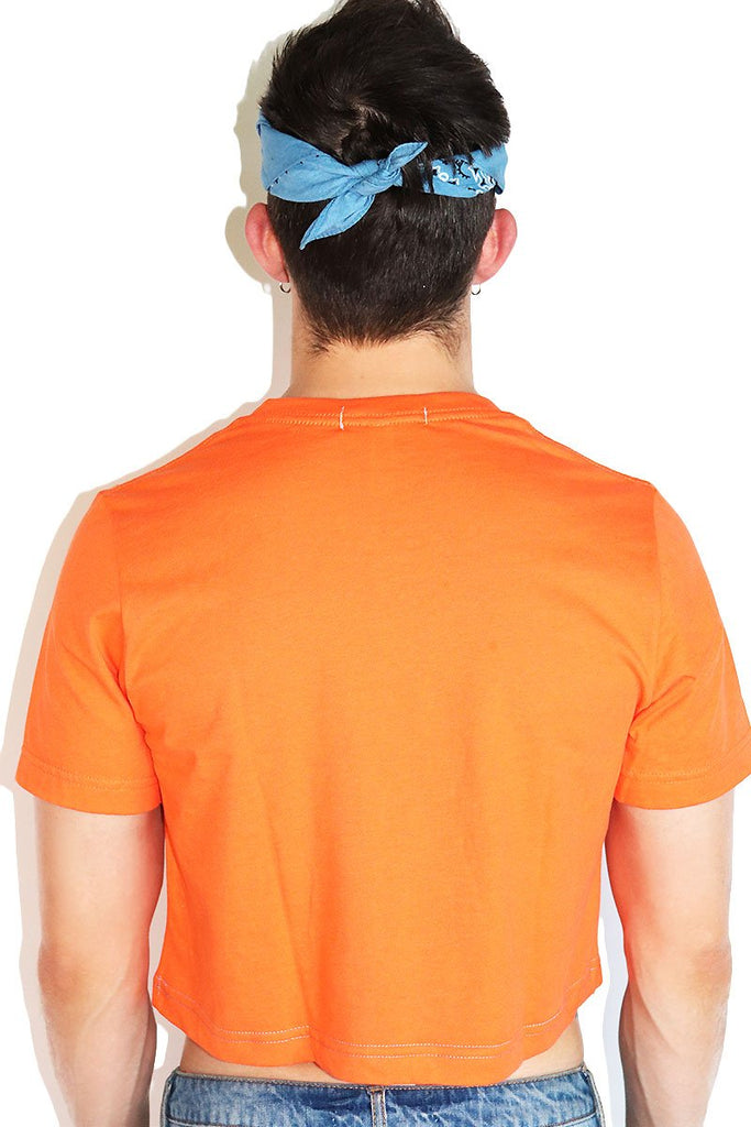 Core Crop Tee-Orange
