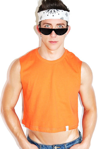 Core Crop Tank-Orange