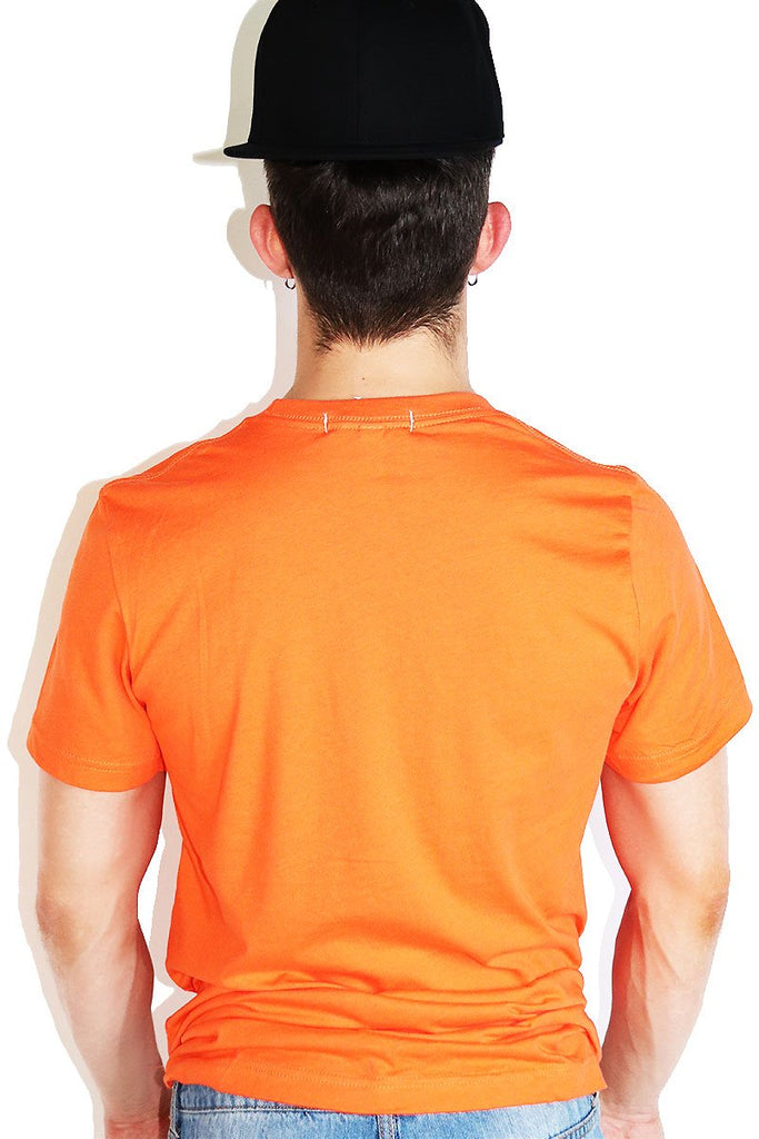 Core Crewneck Tee-Orange