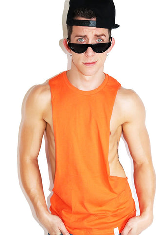 Multipack-Core Crop Racerback Tanks-Natural