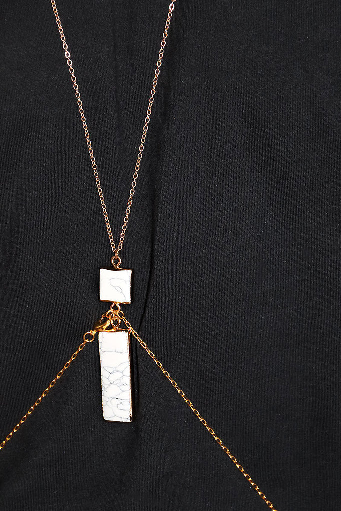 Marble Pendant Harness- Gold