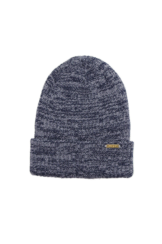 Fitted Marl Beanie- Charcoal