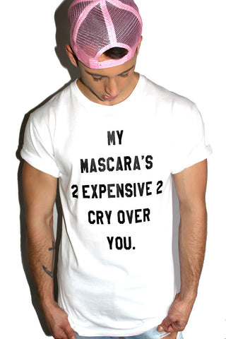 Expensive Mascara Tunic Tee- White