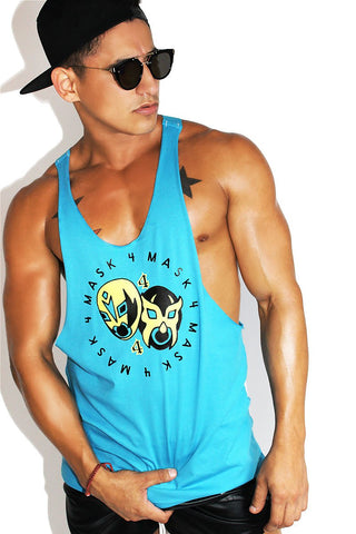 Mask for Mask  String Tank-Blue