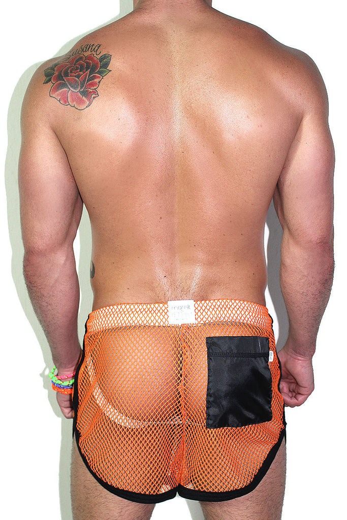 Mesh Running Shorts- Orange