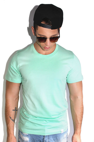 Core Crewneck Tee-Mint Green