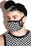 Monaco Checkerboard Face Mask- Black