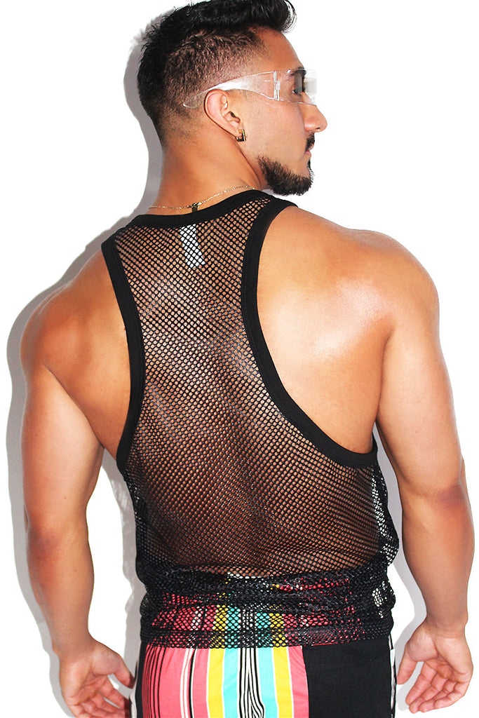 Money Mesh Racerback Tank-Black