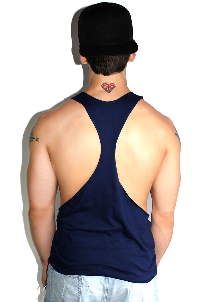 Core String Tank-Navy