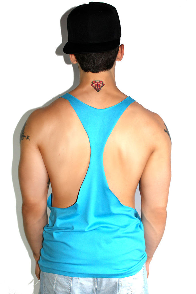 Core String Tank-Blue